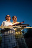 Senior tennis players Stock Photos