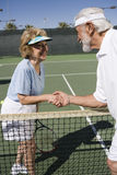 Senior Tennis Players Shaking Hands Stock Photos