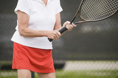 Senior tennis resort Royalty Free Stock Photo
