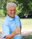 Senior Thumb Royalty Free Stock Images