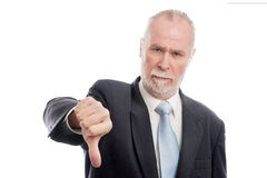 Senior with thumb down Royalty Free Stock Images