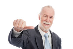 Senior with thumb to side Royalty Free Stock Photo
