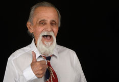 Senior With Thumbs up. Royalty Free Stock Images