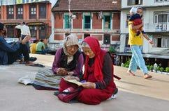 Senior tibetan pilgrims Stock Image