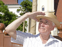 Senior to walk in sunny day - portrait Stock Photo
