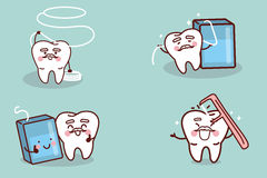 Senior tooth with floss Royalty Free Stock Photos