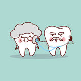 Senior tooth with stethoscope Royalty Free Stock Photos