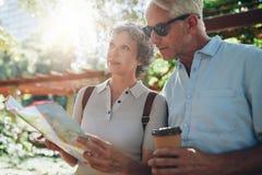 Senior tourist exploring new places to visit Royalty Free Stock Photo