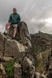 Senior hiker Madeira stock image