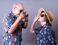 Senior Tourists On Vacation Royalty Free Stock Photos