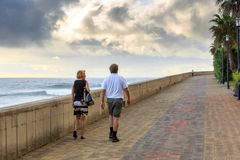 Boulevard hike at sunset Madeira royalty free stock images
