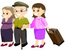 Senior Traveling Stock Image