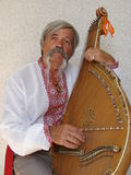 Senior ukrainian kobzar 2 stock images