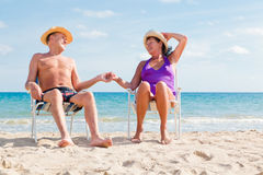 Senior vacation Royalty Free Stock Photos