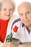 Senior valentines portrait Stock Photography
