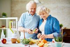 Senior vegetarians Royalty Free Stock Image