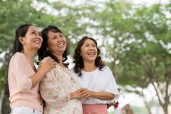 Senior Vietnamese ladies Royalty Free Stock Photo