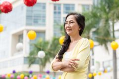 Senior Vietnamese woman Royalty Free Stock Photography