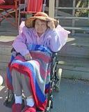 Senior W Wheelchar Obraz Royalty Free