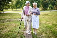 Senior walkers Stock Images