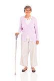 Senior walking cane Royalty Free Stock Images