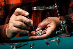 Senior watchmaker Stock Images