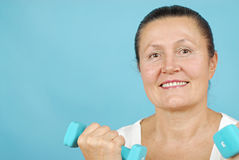 Senior weight lifting Royalty Free Stock Photography