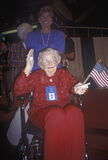 Senior in wheelchair at the Republican National Convention in 1996, San Diego, CA Royalty Free Stock Photography