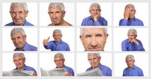 Senior on a white background Royalty Free Stock Photo