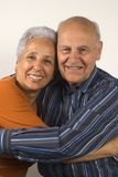 Senior wife and husband. Hugging each other Stock Photo