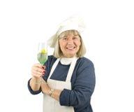 Senior with Wine Stock Photos