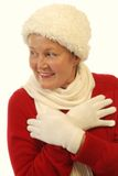 Senior winter fashion Royalty Free Stock Images