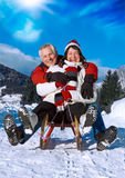 Senior winter fun 5 Royalty Free Stock Images