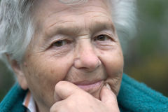 Senior woman. A senior person. Shallow depth of field Royalty Free Stock Photography