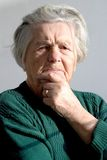 Senior woman. Angry senior woman Stock Photography