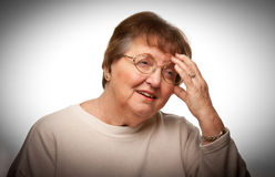 Senior Woman with Aching Head Stock Image