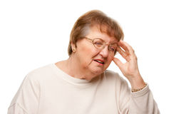 Senior Woman with Aching Head Royalty Free Stock Photo