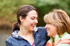 Senior Woman With Adult Daughter Stock Photography