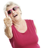 Senior woman approve Stock Photography