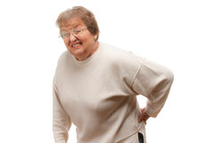 Senior Woman with Backache Royalty Free Stock Photography