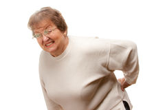 Senior Woman with Backache Royalty Free Stock Photos