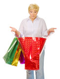 Senior woman with bags Royalty Free Stock Photo