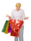 Senior woman with bags Stock Photo