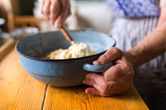 Senior woman baking Royalty Free Stock Photos