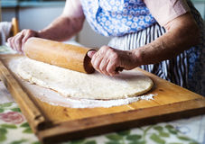 Senior woman baking Stock Photography