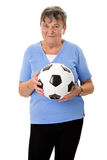 Senior woman with ball Stock Images