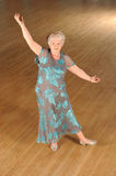 Senior woman ballroom dancing Royalty Free Stock Images