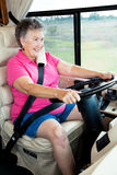 Senior Woman Behind the Wheel Royalty Free Stock Images