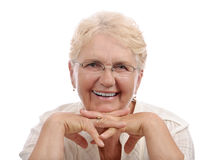 Senior woman big smile Stock Image