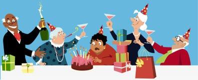 Senior woman birthday Royalty Free Stock Image